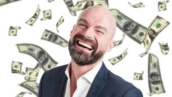 Geld Lottogewinner Fliegende Dollar