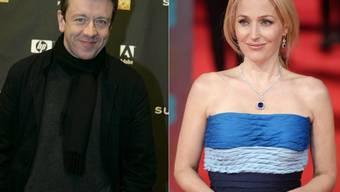 """Schauspielerin Gillian Anderson (""""Akte X"""", """"Sister"""") ist jetzt mit dem Drehbuchautor Peter Morgan (""""The Queen"""") zusammen. (Archivbilder)"""