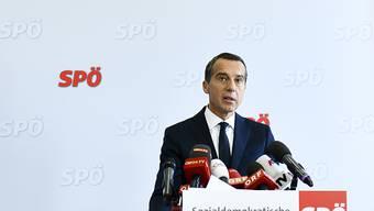 """Der frühere österreichische Kanzler Kern setzt einen """"Schlussstrich"""" als Berufspolitiker."""