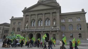 Finden kein Gehör beim Bundesrat: Befürworter der Atomausstiegsinitiative (Archiv)