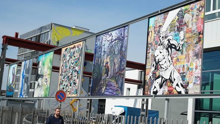 Auf dem ehemaligen Buss-Areal in Pratteln ist die Biennale mit dem «Urban Art Walk» auch im Freien präsent.