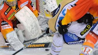 Sierre-Goalie Martin Zerzuben liess keinen Treffer zu