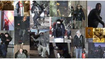 Ob mit Cityscooter, Feuerlöscher oder Feuerwerk: Das sind die Tanz-dich-frei-Krawallmacher auf den Fahndungsfotos der Berner Kapo.ho