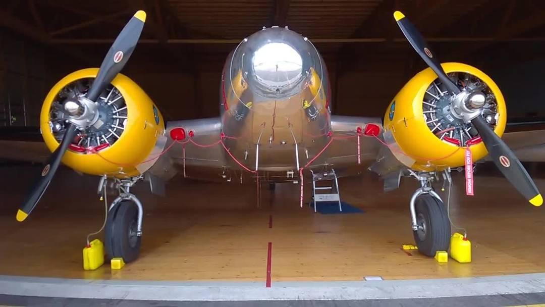 Exklusiver Blick in den Hangar der Classic Formation von Hugo Mathys