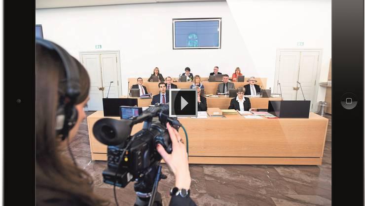 Wer die Debatten des Aargauer Grossen Rates live mitverfolgen will, muss weiterhin ins Grossratsgebäude kommen (Symbolbild).