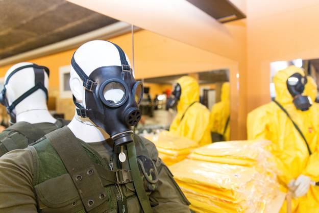 Die ABC-Schutzmaske kommt im Fall einer Atomkatastrophe zum Einsatz.