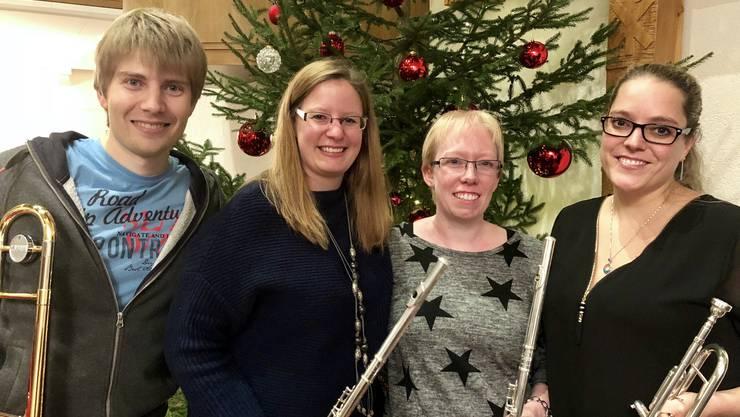 Das Team «Weihnachtsklänge im Dorf» der Musikgesellschaft Derendingen freut sich auf einen stimmungsvollen Abend.