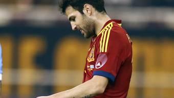 Cesc Fabregas eröffnete das Score gegen Uruguay. Am Ende siegte Spanien mit 3:1.