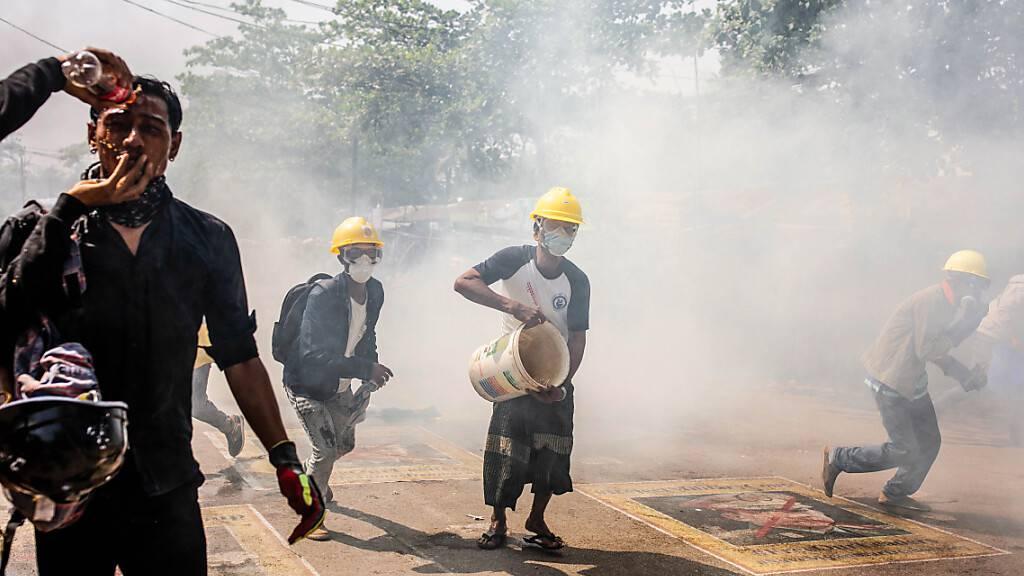 Erneut Tote bei Protesten gegen Militärputsch in Myanmar