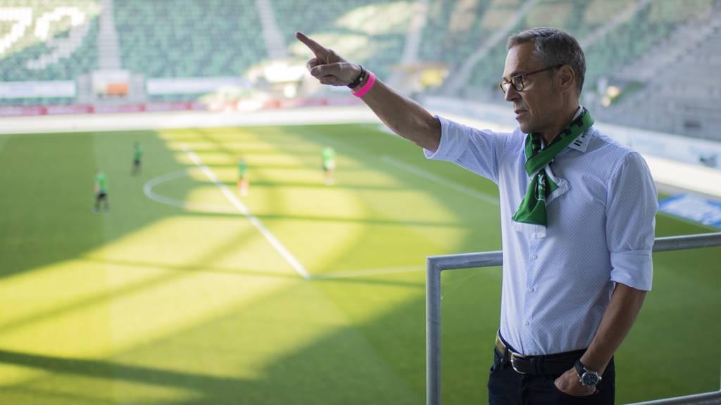 FCSG-Präsident Matthias Hüppi vor dem Spiel gegen den FC Zürich vom Donnerstag, 25. Juni 2020 im Kybunpark.