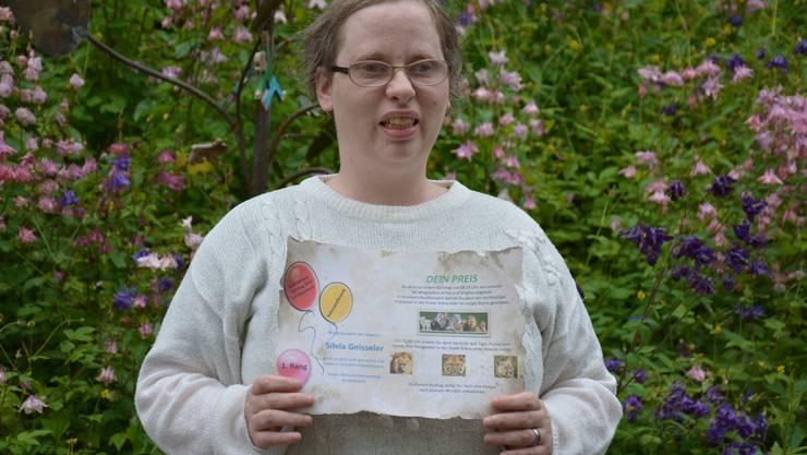 Silvia Geisseler, Siegerin des Ballonwettbewerbs anlässlich des Behindertensporttages 2012