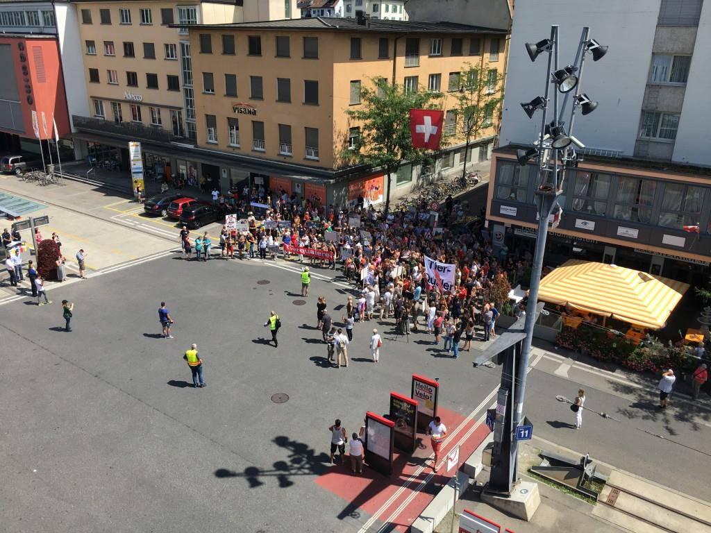 Demonstration in Frauenfeld