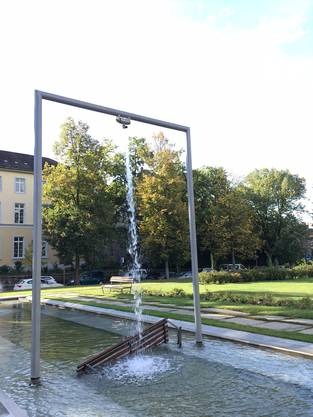 Das Kunstwerk Stiefel von Roman Signer beim Kunstmuseum Solothurn wurde geklaut