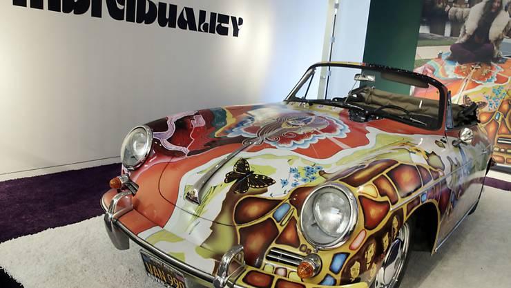 Janis Joplins bunter Porsche hat bei einer Versteigerung knapp 1,8 Millionen Dollar eingebracht. (Archivbild)