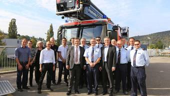 Übergabe von zwei neuen Baselbieter Hubrettungsfahrzeugen