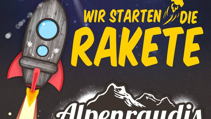 Die Alpenraudis starten die Rakete