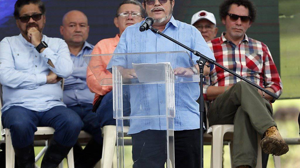 Der Anführer der kolumbianischen Farc-Guerilla, Rodrigo Londoño, hat einen Schlaganfall erlitten und wurde in eine Spital gebracht. (Archivbild)