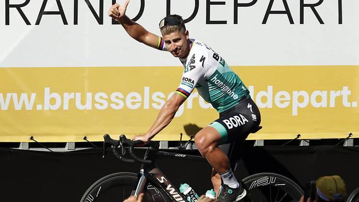 Daumen hoch von Peter Sagan - auch nach der 1. Etappe am Samstag?