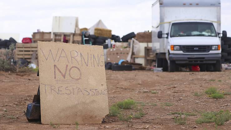 In dieser Behausung in Amalia im US-Bundesstaat New Mexico griffen die Behörden elf verwahrloste Kinder auf. (Archivbild)