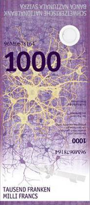 Und so soll die neue 1000er Note aussehen.