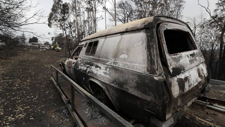 Im Conjola Nationalpark hat das Feuer ein Bild der Zerstörung zurückgelassen. (5. Januar 2020)