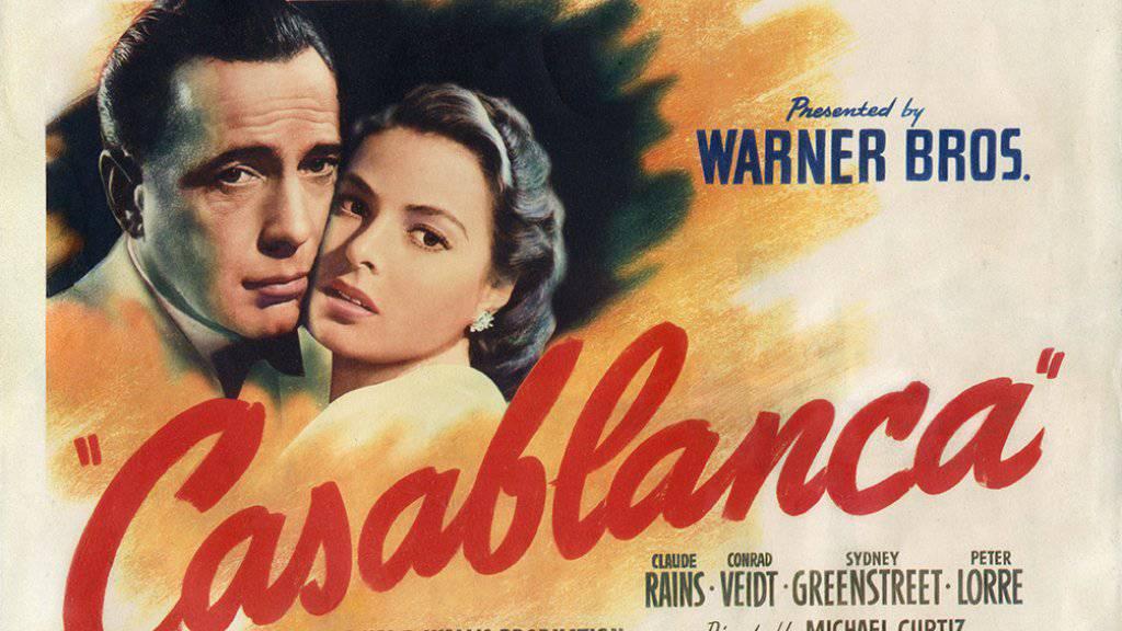 """Für das mutmasslich letzte noch bekannte Poster in italienischer Ausgabe zum US-Filmklassiker """"Casablanca"""" blätterte ein unbekannter Fan eine grosse Geldsumme hin. (Symbolbild)"""