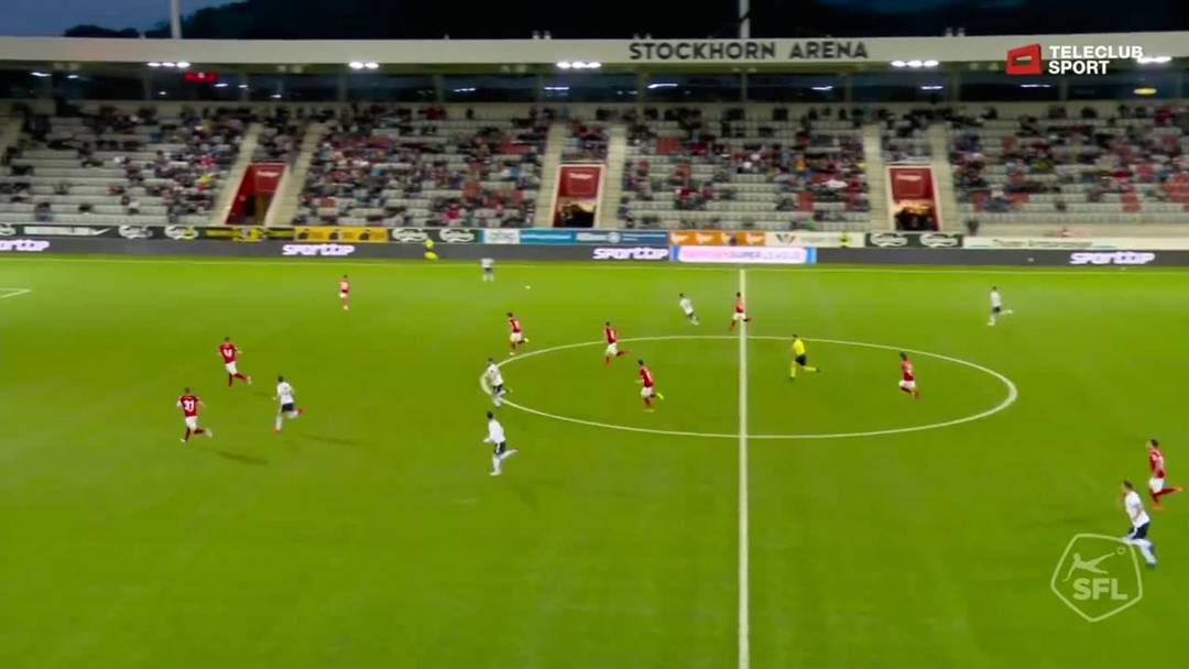 Super League, Saison 2018/19, Runde 35 FC Thun- FC Basel , 0:1 für FC Basel 1893 von Samuele Campo (Assist: Aldo Kalulu)