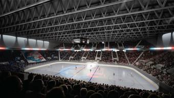 Das geplante ZSC-Stadion soll 11600 Zuschauer fassen. (Visualisierung)