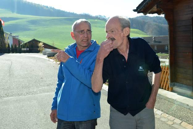 Bantle mit Christoph Salzmann, seinem Ex-Betreuer