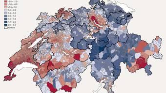 Einkommen in den Schweizer Gemeinden