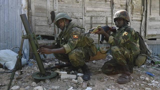 Soldaten der Afrikanischen Union (AU) im Einsatz in Mogadischu