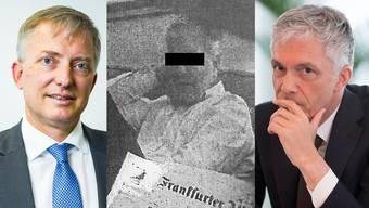 Von links nach rechts: NDB-Chef Markus Seiler, Daniel M., Bundesanwalt Michael Lauber.