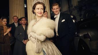 """40'000 Dollar pro Folge: Schauspielerin Claire Foy verdient in ihrer Rolle als Königin Elizabeth II in der Netflix-Erfolgsserie """"The Crown"""" weniger Geld als ihr Filmpartner Matt Smith, der Prinz Philip mimt. (Archivbild)"""
