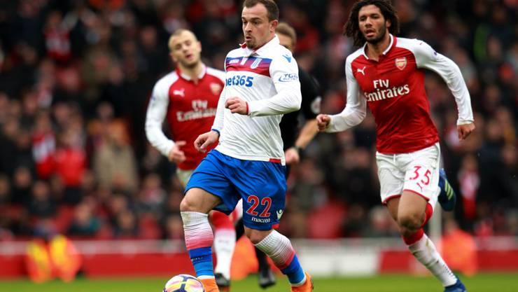 Xherdan Shaqiri kann die Niederlage von Stoke gegen Arsenal nicht verhindern