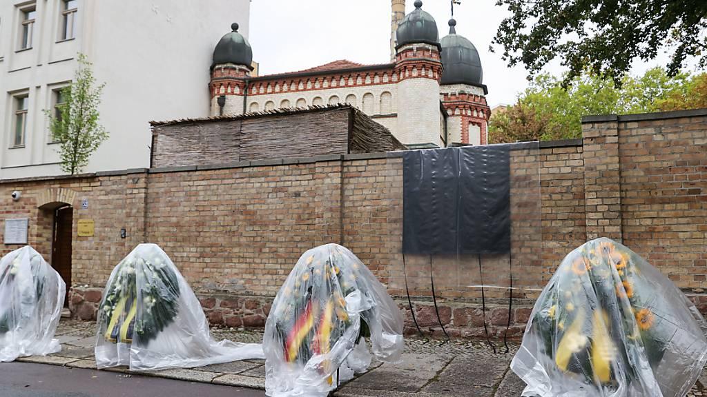 Gedenken zum Jahrestag des Halle-Anschlags in Deutschland