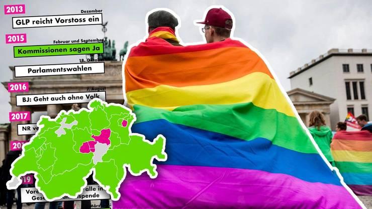 Die Öffnung der Ehe für gleichgeschlechtliche Paare wird seit Jahren gefordert.  Foto: Keystone