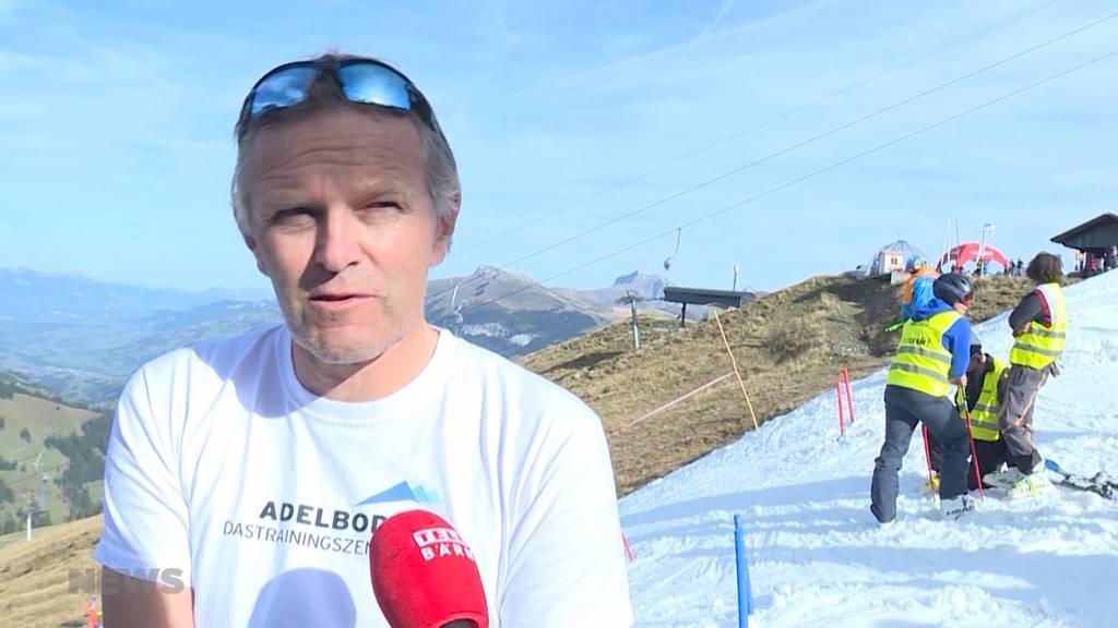 Schnee von gestern: Nachwuchs-Skiportler auf Tschentenalp