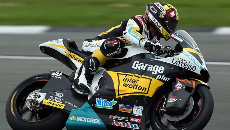 Tom Lüthi büsste am ersten Trainingstag zum Grand Prix von San Marino 0,614 Sekunden auf die Bestzeit des Japaners Takaaki Nakagami ein