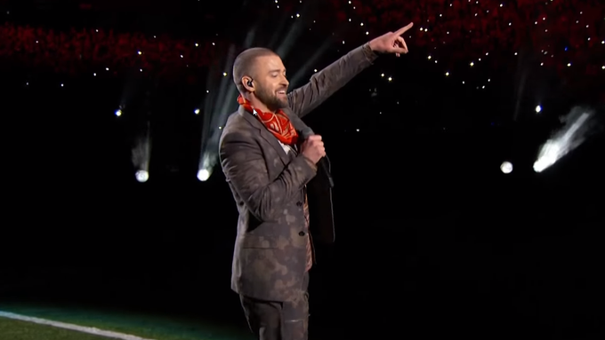 Justin Timberlake am Super Bowl