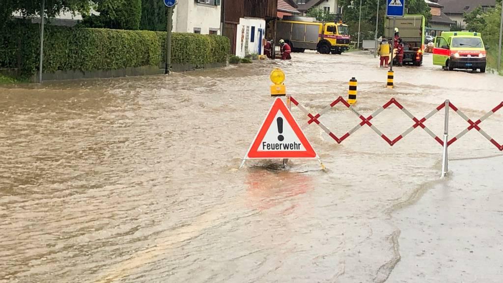 Unwetter im Mittelland