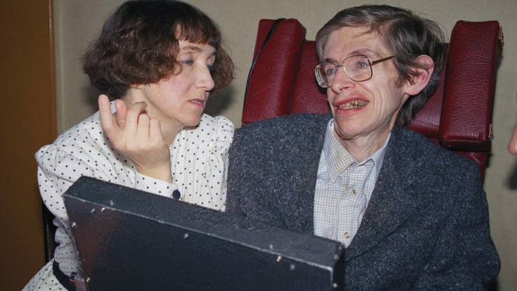 Stephen Hawking und seine Ex-Frau und Jugendliebe Jane (1989)
