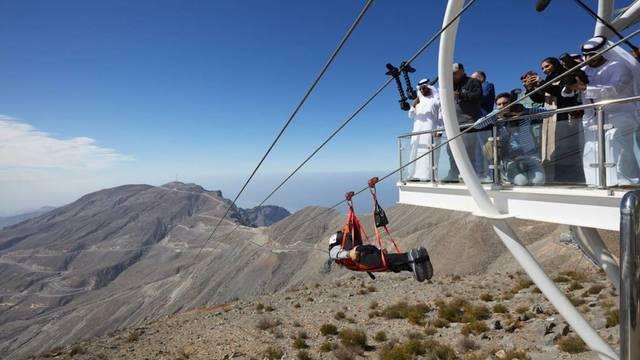 Die längste Seilrutsche der Welt ist eröffnet