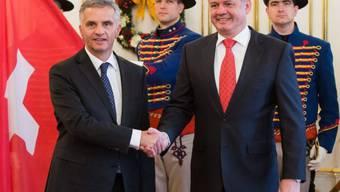 Der slowakische Präsident Kiska empfängt Bundespräsident Burkhalter