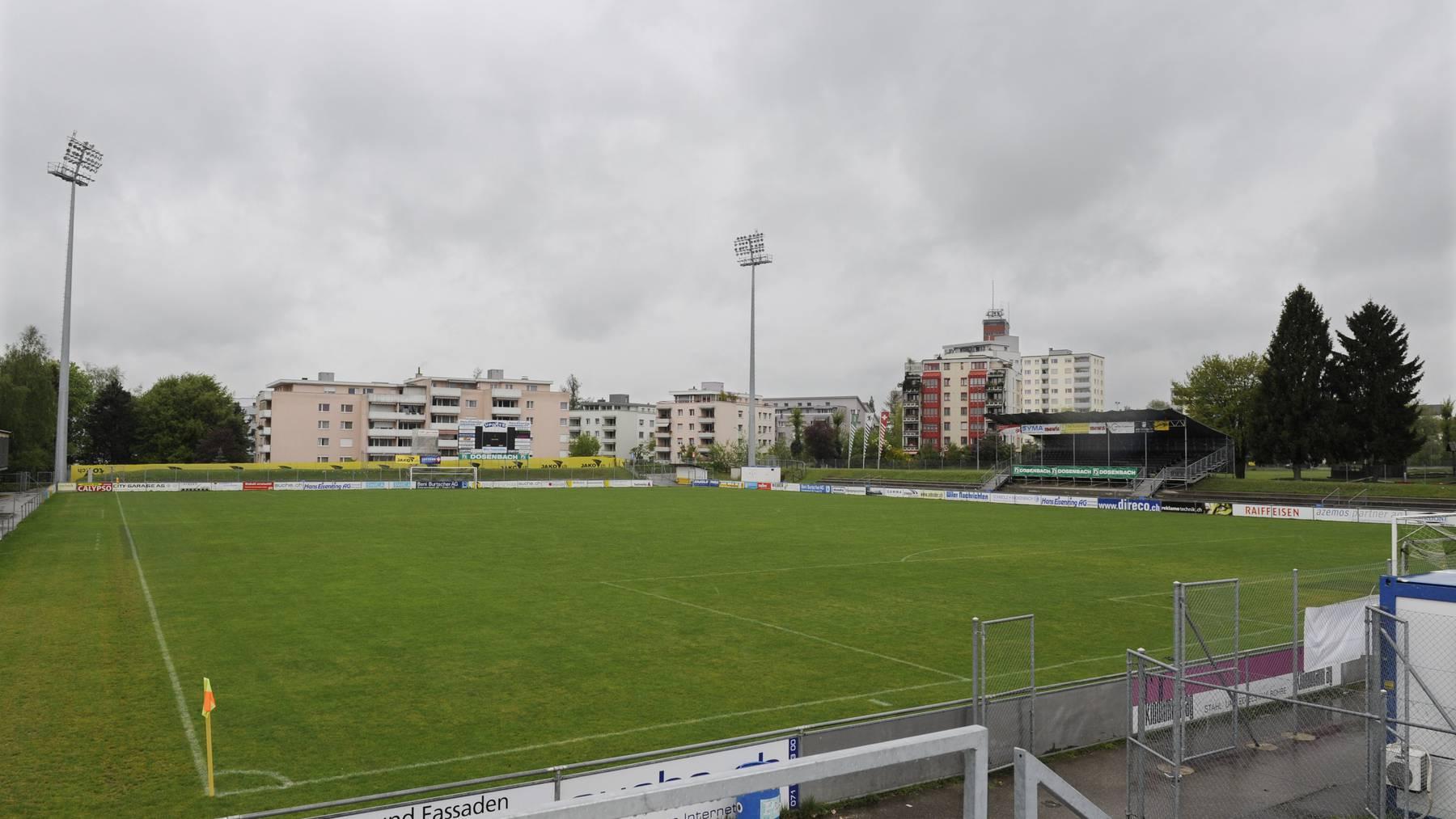 Hier brachen Unbekannte ein: das Fussballstadion Bergholz in Wil.