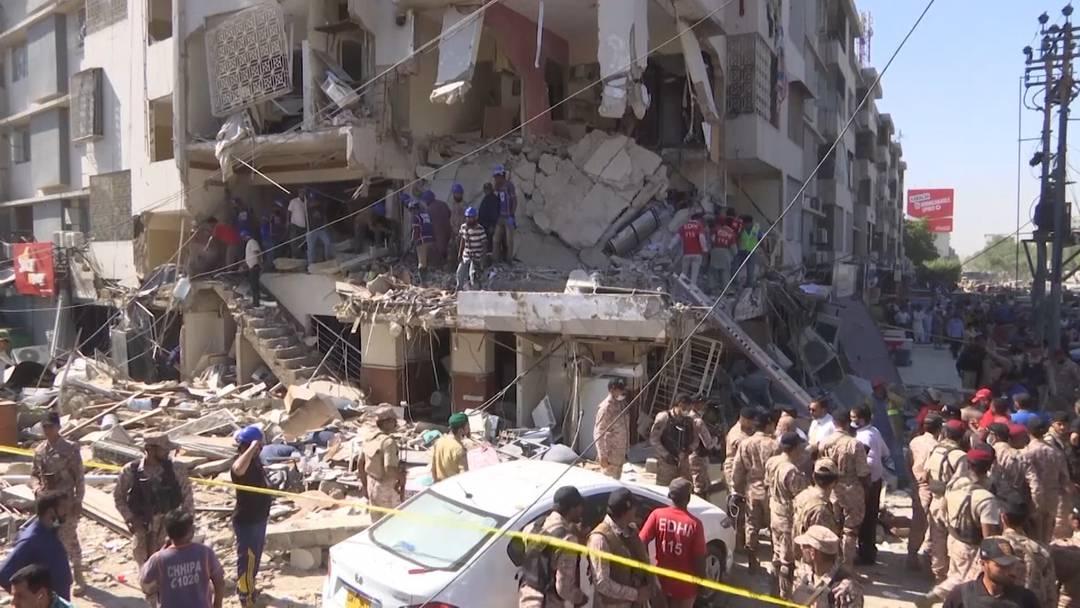 Pakistan: Explosion im mehrstöckigen Gebäude - mindestens drei Tote und 15 Verletzte