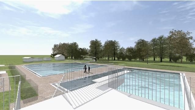 Visualisierung: So soll sich das Schwimmbad Schinznach dereinst präsentieren – nach der Sanierung und Erweiterung.