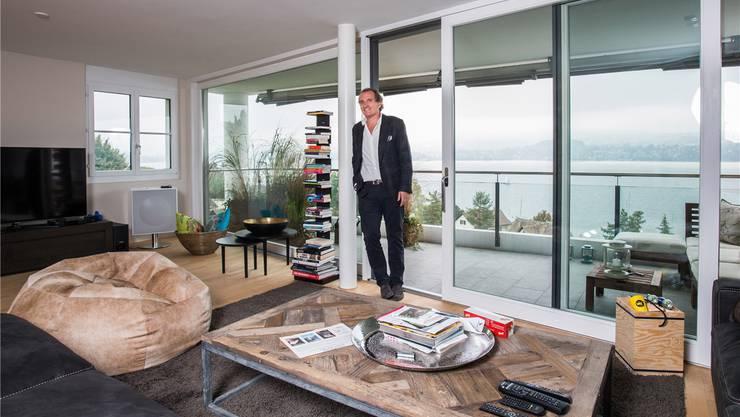 Gastrounternehmer Michel Péclard: «Die Aussicht hier ist toll, aber ich möchte lieber direkt am See wohnen.»MATHIAS MARX