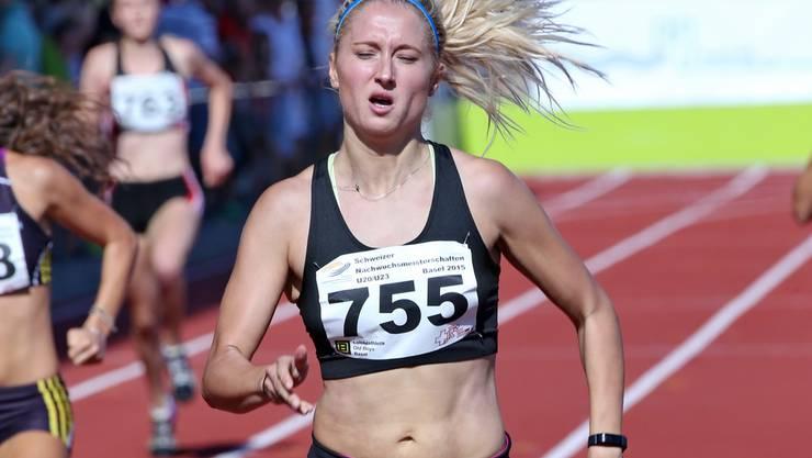 Was für ein Comeback: Simone Werner holte den U23-Titel über 400 Meter.