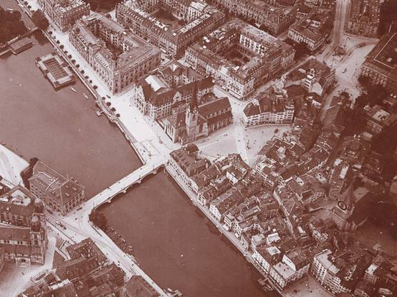 Vor gut 100 Jahren fuhr hier das Rösslitram.