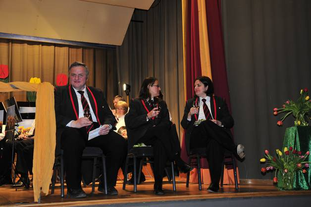 Die drei kantonalen Veteranen, v.l. Anton Baldenweg, Corina Salvisberg und Rita Häusermann